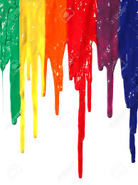 different colors of paint dripping stock photo picture and