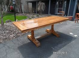 Plans For Building A Wood Picnic Table by Table Amusing Plywood Trestle Table Plans Curious Wondrous