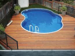 metric semi inground swimming pool backyard leisure