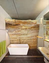 Exquisite And Inspired Bathrooms With Stone Walls - Rock wall design