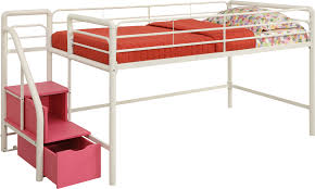 dhp furniture junior twin loft bed with storage steps
