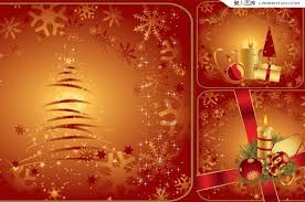 3 christmas candle vector material my free photoshop world