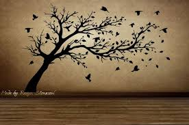 second marketplace birds flying through tree wall sticker