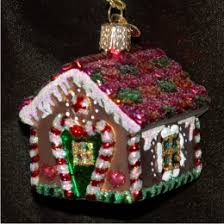 gingerbread house family ornaments personalized by
