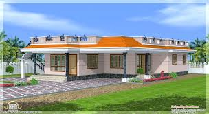 One Story Houses Contemporary Single Floor House Plans Keralaone Storey Design