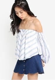 Shoulder Top - buy something borrowed shoulder top zalora singapore