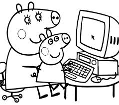 peppa pig coloring coloring beach screensavers