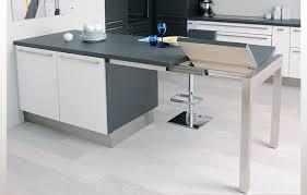 table cuisine escamotable tiroir plan de travail avec rangement cuisine strass magnolia nocce schmidt