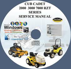cub cadet 2000 3000 7000 rzt series tractors mowers service