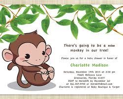 baby shower monkey free monkey baby shower invitation templates free printable monkey