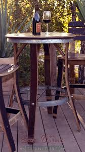 Galvanized Bistro Chair Wine Barrel Project Table Coffee Tables Pinterest Project