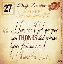 a blessed happy thanksgiving daily devotion november