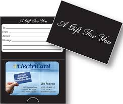 gift card presenters stock custom presenters electricard