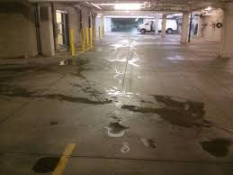 twin cities apartment parking garage pressure washing and floor