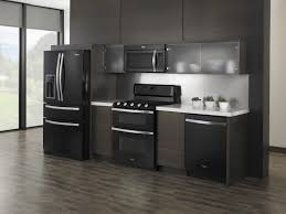 fancy black appliances kitchen ideas on single line layout f