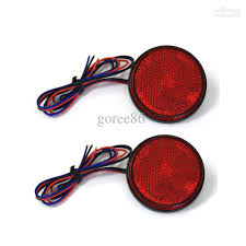 Red Led Light Bulb by 2017 2 Red Led Reflectors Round Brake Light Universal Motorcycle