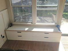 my ikea hack window seat for our sunroom akurum cabinets with