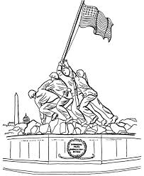 veterans day coloring pages printable celebrating veterans day at iwo jima memorials coloring page netart