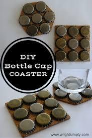simply wright diy bottle cap coasters