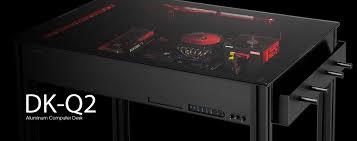 Computer In Desk Lian Li Dk Q2 X Aluminium Computer Desk Dk Q2 X Novatech