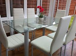 black table white chairs kosy koala stunning glass white or black dining table set and 6