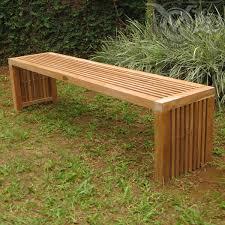 Ipe Bench Elegant Outdoor Bench Backless Ipe Wood Outdoor Furniture Ironwood