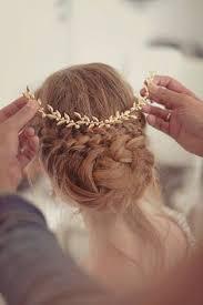 gold hair accessories elsa billgren for the bridal headpiece brass headpiece