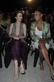 lyrica anderson and meagan good lily collins at premiere of u0027to the bone u0027 at ischia global fest