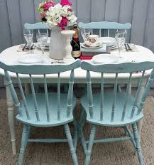 Shabby Chic Vintage Dining Table Chairs Bees Knees Furniture