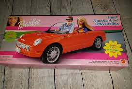 barbie convertible barbie 2002 ford thunderbird red convertible sports car mattel ebay