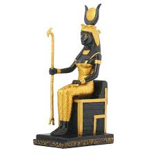 goddess isis sits upon the throne as queen of the egyptian gods