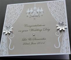 congratulations wedding card personalised wedding invites uk handmade personalised