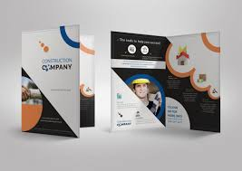 2 fold brochure template pageimagine photos template construction compa