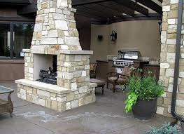 Outdoor Grill And Fireplace Designs - outdoor fireplaces with pergolas attached to house design ideas