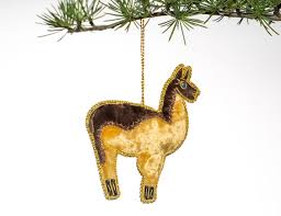 embroidered ornaments from heifer