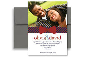 red blue design pattern wedding invitation example 5x7 in