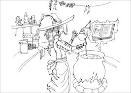 cook witch coloring free printable coloring pages