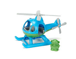 amazon com green toys helicopter blue green toys u0026 games