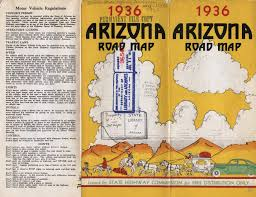 Arizona Highway Map by Arizona Road Trip Arizona Archivy