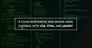website design tutorial clean responsive web design menu tutorial with css html and jquery