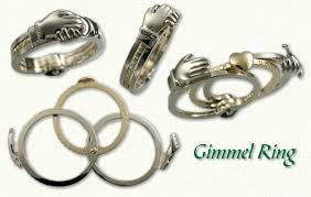 betrothal gimmel claddaugh rings by designet international