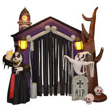 outdoor halloween decorations wayfair inflatable haunted house