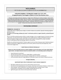 Strategy Resume Samples U2014 Quantum Tech Resumes