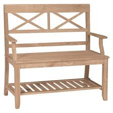 Outdoor Bench With Storage Solid Wood Bench Target