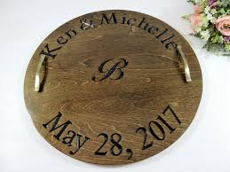 Wooden Serving Trays For Ottomans by Wine Serving Tray Wine Barrel Tray Wood Serving Tray Custom