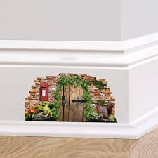 woodland fairy cottage door wall decal sticker mural skirting zoom