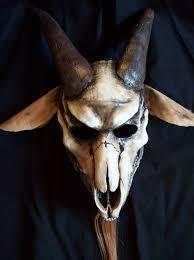 Skeleton Halloween Mask by Goat Skull Halloween Mask Halloween Masks And Masking