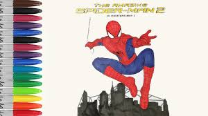 amazing spiderman movie coloring pages sailany