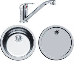 Round Kitchen Sink by Round Kitchen Sink Drainer U0026 Tap With Wastes 450mm Diameter