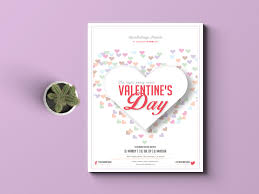 valentines flyer template s day flyer template adobe indesign template
